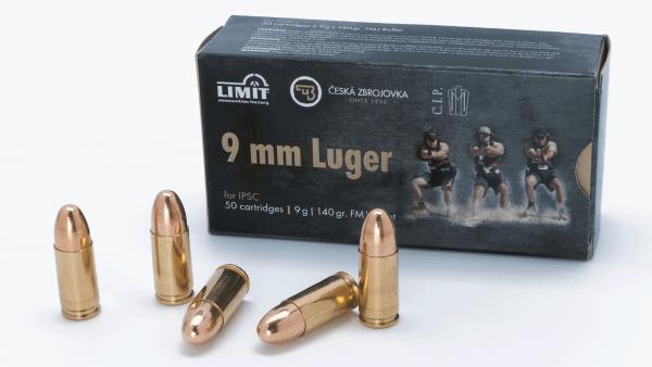 amunicja 9mm luger IPSC 9g/140 grs FMJ