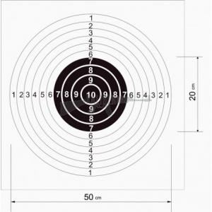 Tarcza strzelecka pistolet 520 x 550mm 0,47zł szt