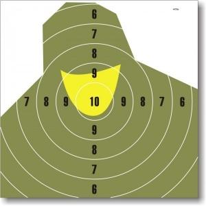 Tarcze strzeleckie NT23P- żołnierz 1szt.0,59zł
